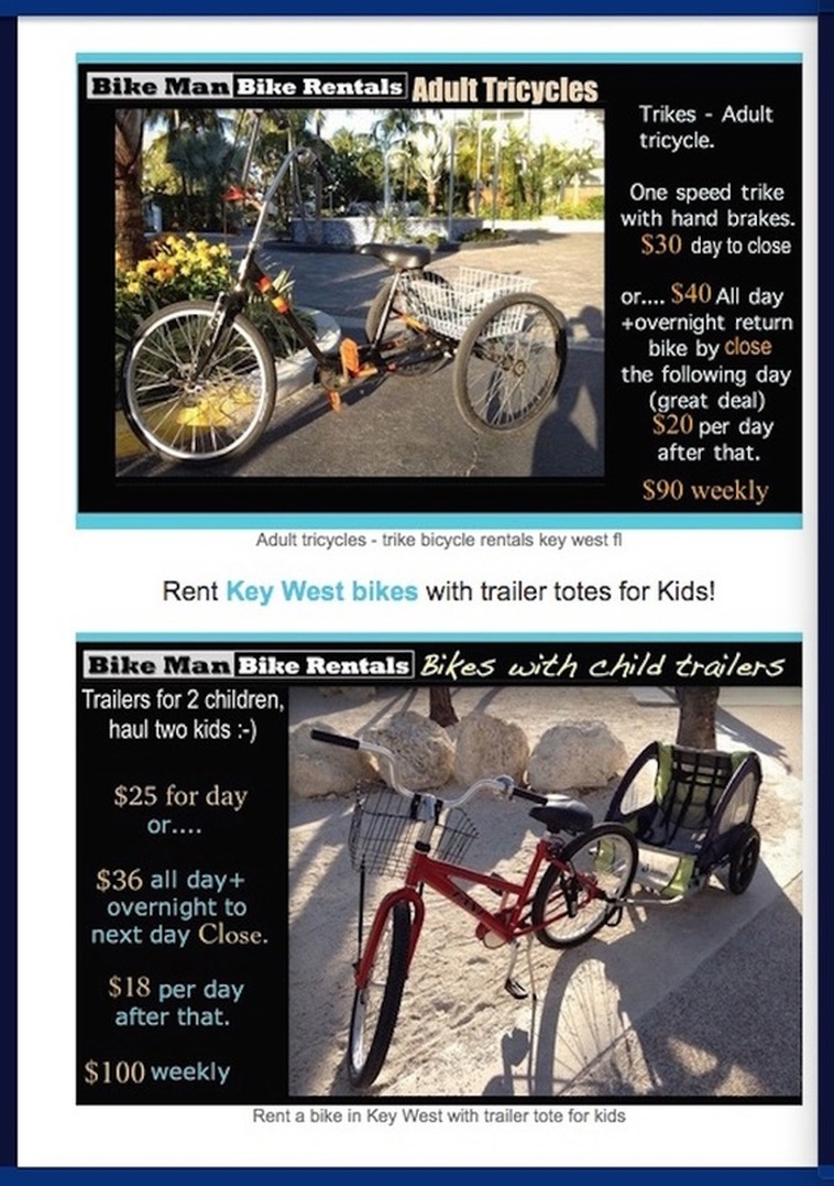 renta adult trikes in Key West