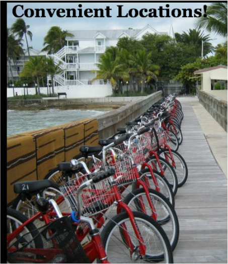 bicycles for rent in the Florida Keys