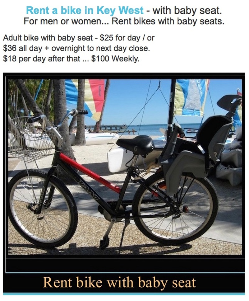 rent key west bikes with baby seats