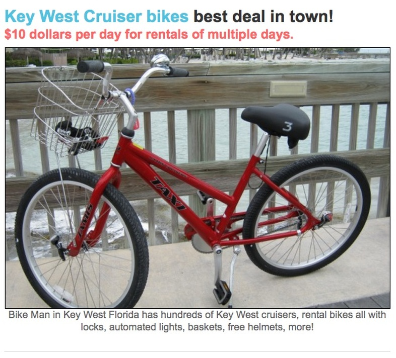 key west cruiser bike rental